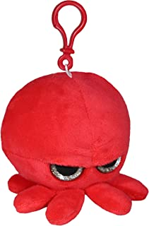 Grumpy Baby Octopus - Keychain Pendant with Clip- Cute Super Soft Plush Stuffed Animal Toy Decoration Backpack Purse and H...