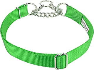 Country Brook Design - Half Check Nylon Dog Collars Various Sizes and Colors