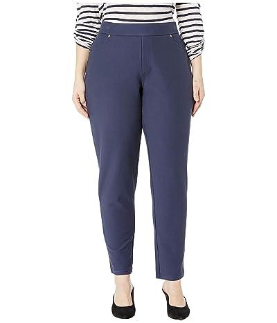 MICHAEL Michael Kors Plus Size Solid Pull-On Leggings (True Navy) Women