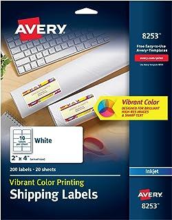 ملصقات Avery حبر أبيض غير لامع (8253)