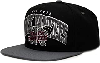 City Hunter Nf450 New York Black Yankees Nlbm Team Snapback Cap - Black/grey
