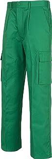 Workteam Pantalón de Trabajo, elástico en cintura, multibolsillos: dos bolsos laterales en perneras.