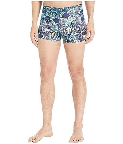 Speedo Printed Square Leg (Peacoat) Men