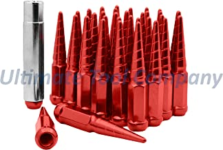 UTC 32 Pc Red Solid Steel Spike M14x1.5 4.5