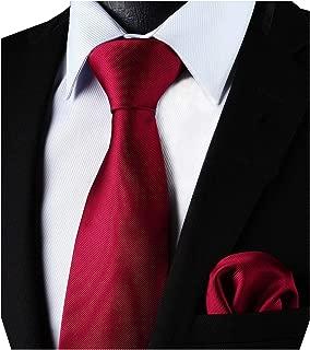 Corbata de color liso y corbata cuadrada de bolsillo para hombres