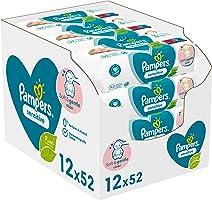 Pampers Sensitive Baby Feuchttücher, 624 Tücher (12 x 52) Für Empfindliche Babyhaut, Dermatologisch Getestet, Baby...