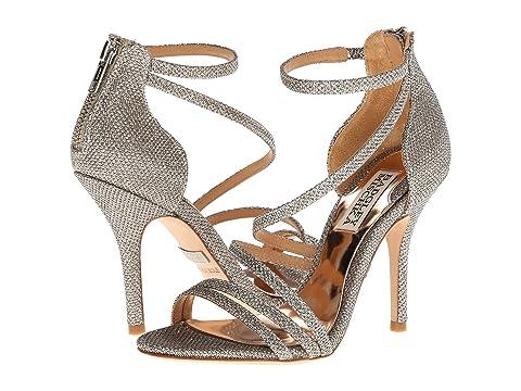 Womens Shoes Badgley Mischka Landmark Silver Diamond Drill Fabric
