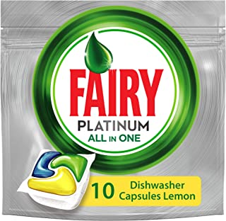 Fairy Platinum All In One Lemon Dishwasher Tablets, 10 Count