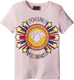 Versace Kids - Short Sleeve Tee with Logo Graphic (Toddler/Little Kids)