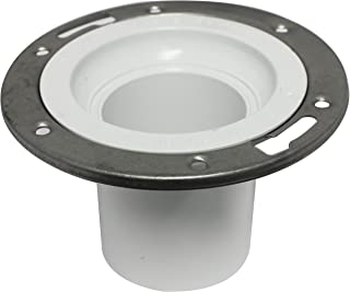 Canplas 193617SS DWV Closet Flange with Stainless Steel Ring and Extended Spigot, 3-Inch, White