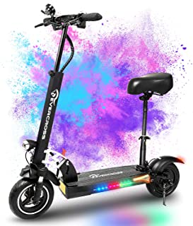 EVERCROSS Electric Scooter, Electric Scooter for Adults with 800W Motor, Up to 28MPH & 25 Miles-10'' Solid Tires, Scooter ...