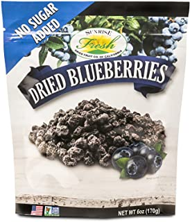 Dried California Blueberries, No Added Sugar, Sunrise Fresh Dried Fruit Co.