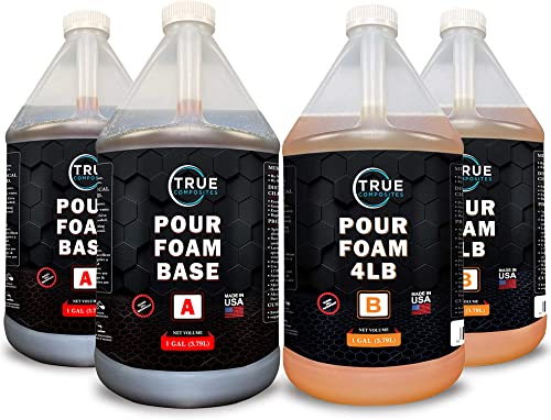 TRUE COMPOSITES Liquid Urethane Rigid Pour Foam 4LB Foam 4 Gallon Kit