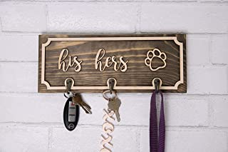 his hers paw key holder