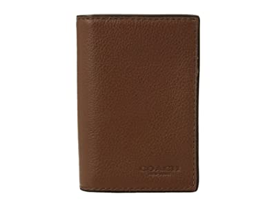 COACH Bifold Card Case (Dark Saddle) Bi-fold Wallet