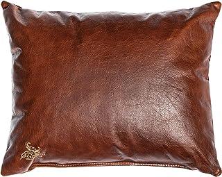 Centaur - Coussins décoratifs en Cuir pour canapé ou Chambre à Coucher 50 x 40cm Noisette - Coussins en Cuir véritable de ...