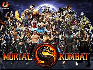 Mortal Kombat 9 Poster by Silk Printing # Size about (80cm x 60cm, 32inch x 24inch) # Unique Gift # 98034F