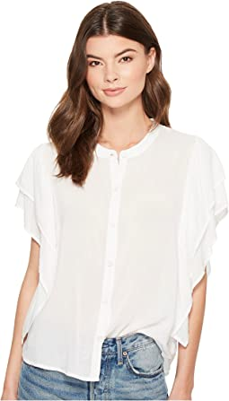 Splendid - Paradise Cove Ruffle Sleeve Top