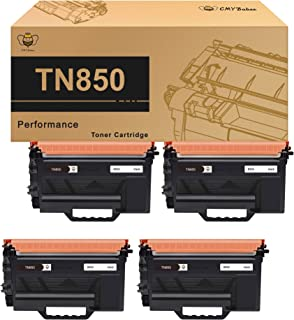 CMYBabee Compatible Toner Cartridge Replacement for Brother TN850 TN-850 TN 850 (Black, 4 Pack)