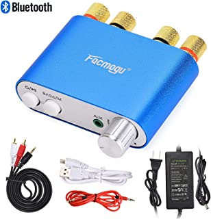 S800 100W Bluetooth Audio Amplifier DC 12 Volt with Power Supply 12V 5A, 50W + 50W Dual Channels HIFI Stereo Bluetooth 4.0 Receiver Bass Amp, Home Car Amplifi Built-in EMI Filter