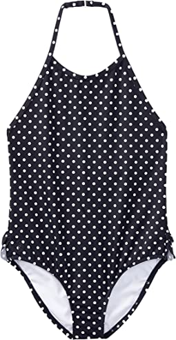 Polo Ralph Lauren Kids - Dot One-Piece Halter Swimsuit (Little Kids)