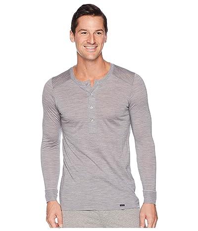 Hanro Light Merino Long Sleeve Shirt (Silver) Men
