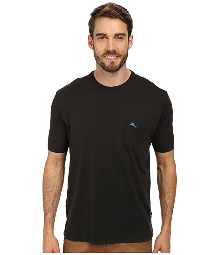 Tommy Bahama  New Bali Skyline T-Shirt (Black) Mens Short Sleeve Pullover