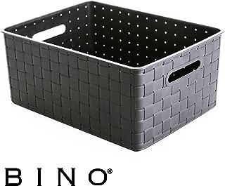 BINO Woven Plastic Storage Basket, Medium (Grey)