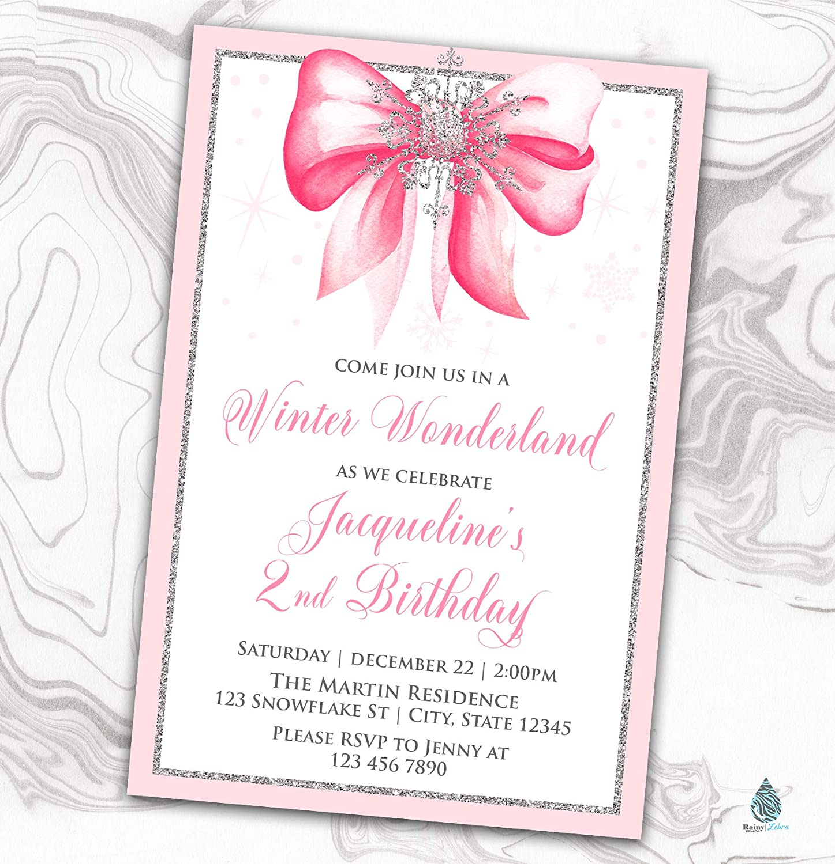 Winter Wonderland Birthday Invitation Lowest price challenge Invite Philadelphia Mall Onederland Pink -