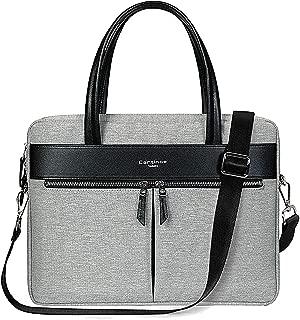 Cartinoe Laptop Tote Bag, Women Waterproof Laptop Bag Briefcase RFID Blocking Ultrathin Nylon Business Ladies Work Handbag Shoulder Messenger Carrying Bag for 14 15 inch MacBook Ultrabook, Grey
