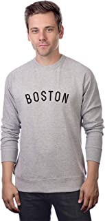 Boston Sweatshirt Athletic Fit Pullover Crewneck French Terry Fabric