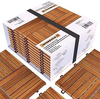 comprar comparacion Interbuild Camp 20 - Baldosas de madera de acacia para balconas y terrazas -30 x 30 cm - 0,9 m2 por PACK - 10 en total