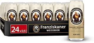 Franziskaner Hefe-Weizen Weissbier Dosenbier, EINWEG 24 x 0.5 l Dose