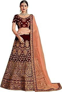 Ethvilla Women's Pure Silk Semi-stitched Lehenga Choli
