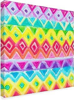 rainbow row watercolor