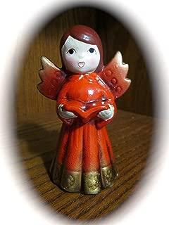 Vintage Ceramic Singing Angel Caroler Figurine/Ornament (Made In Japan - approx 4.5