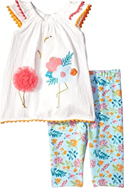 Mud Pie - Flamingo Tunic and Capris Two-Piece Set (Infant)