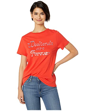 ban.do Weekends Are Forever Classic Tee (Red) Women