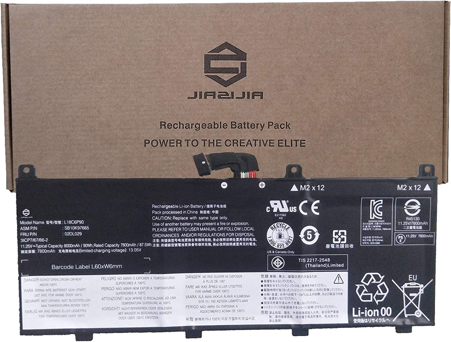 JIAZIJIA 02DL029 Max 74% OFF Laptop Battery ThinkPad for Replacement Lenovo Popular brand