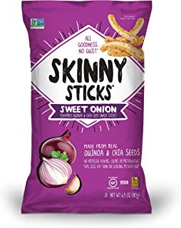 Skinny Sticks Quinoa & Chia Seed Snack, Sweet Onion, 6.5 Ounce (Pack of 6)