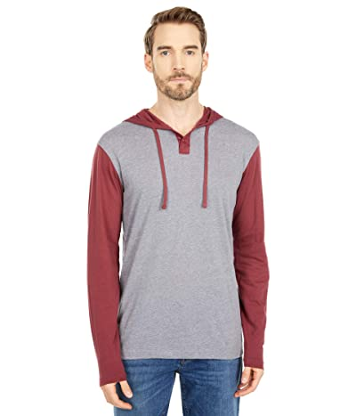RVCA Pick Up Hoodie II (Oxblood Red) Men