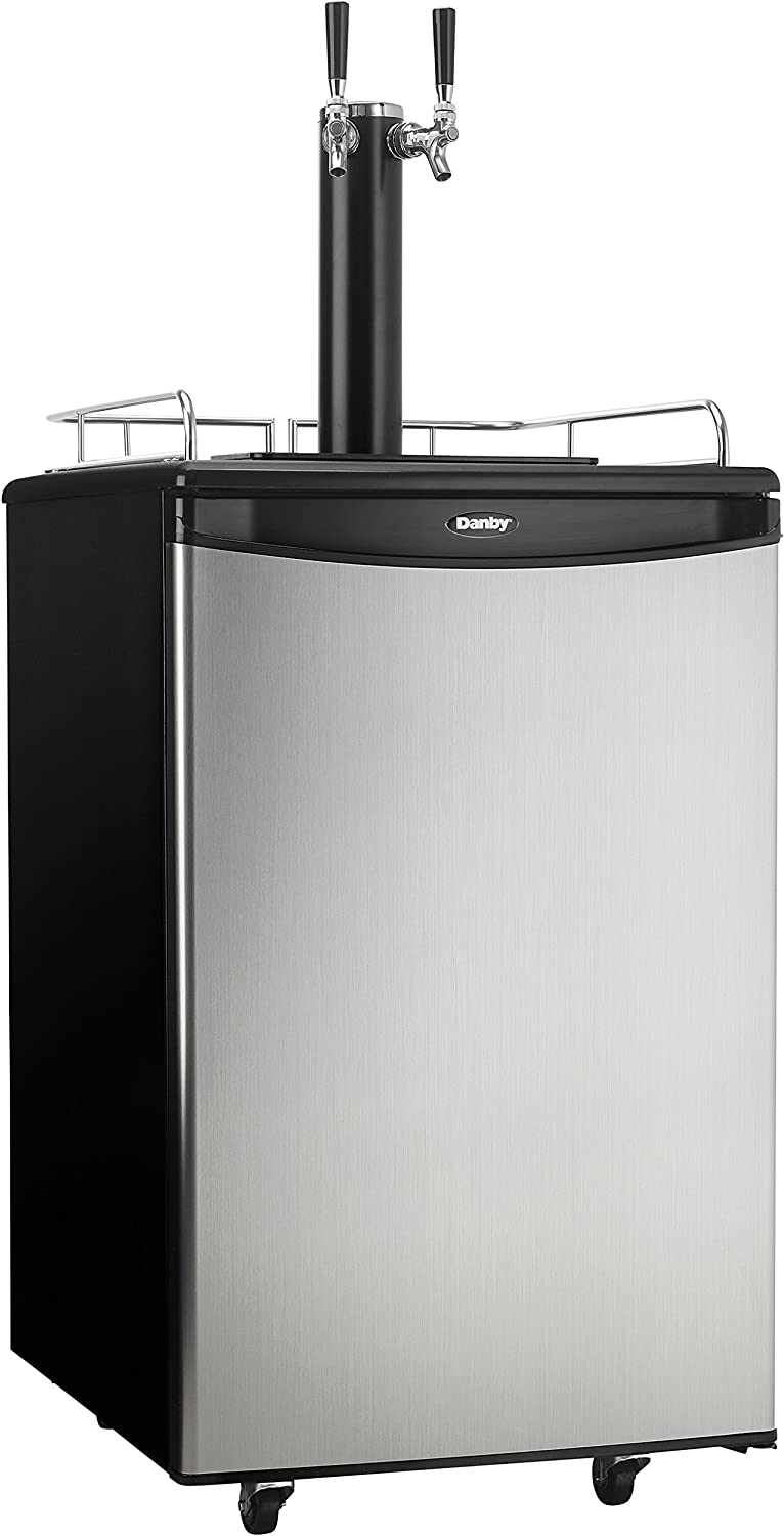 Danby DKC054A1BSL2DB 5.4 Cu.Ft. Double Direct stock discount Surprise price Defro Kegerator Auto Tap