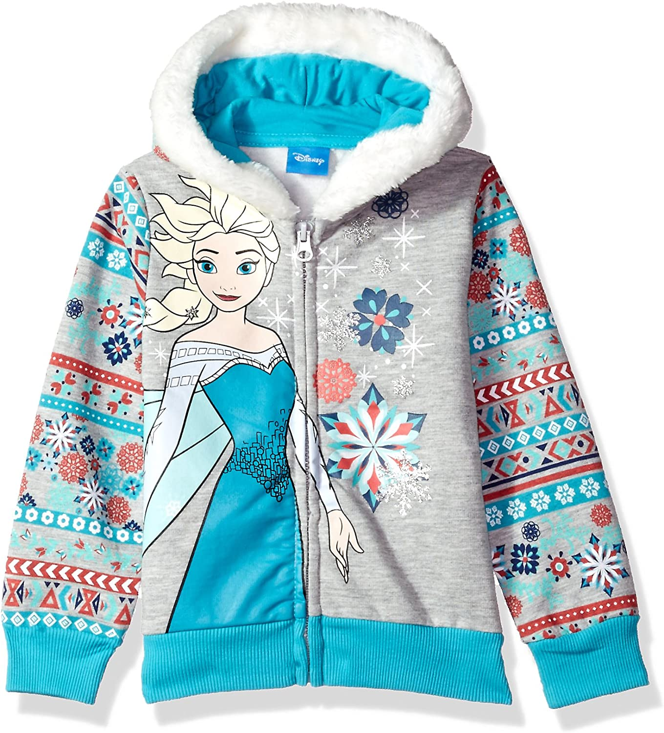 Disney Toddler Girls Frozen Elsa Let It Go Hoodie Sweatshirt