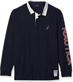 Men's Big and Tall Long Sleeve 100% Cotton Jersey Polo Shirt
