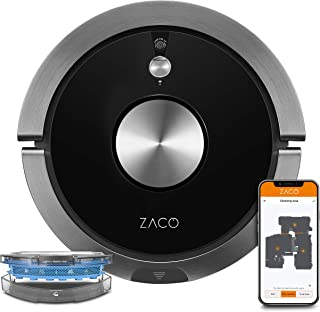 ZACO Robot Aspirador A9sPro con función de Limpieza, Control de aplicación y Alexa, Mapping, aspirar o Limpiar hasta 2 Hor...