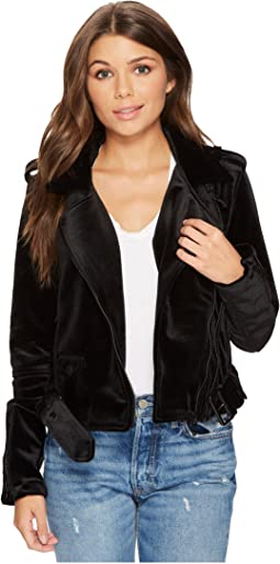 Blank NYC - Velvet Moto Jacket in Dark Side