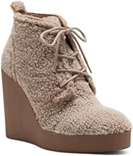 Jessica Simpson Women's Mesila Wedge Bootie Ankle Boot, Dark Natural, 7