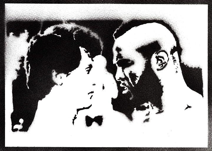 Poster rocky balboa e mr t handmade graffiti street art - artwork moreno-mata B01M7UR0IK