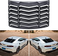 Sunluway for Chevy Chevrolet Camaro 2016 2017 2018 2019 Rear Window Windshiled Louver Sun Shade Cover Matte Black