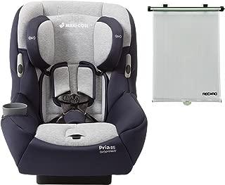 Maxi Cosi Pria 85 Convertible Car Seat with BONUS Retractable Recaro Window Sun Shade (Brilliant Navy)